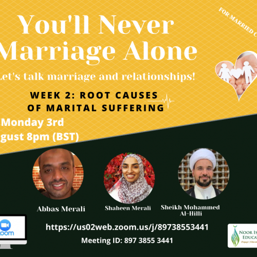 You'll Never Marriage Alone Week 2