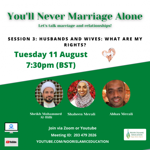 You'll Never Marriage Alone Week 3